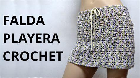 falda recta a crochet paso a paso falda playera en tejido crochet tutorial paso a paso