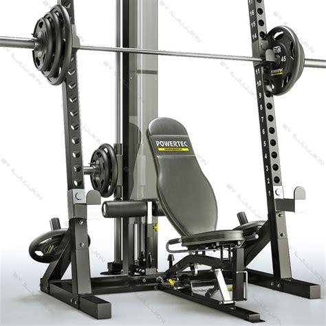 powertec weight bench powertec wb hr10 workbench half 3d model