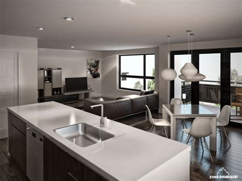 cuisine dans salon salon design dans un appartement meilleures images d