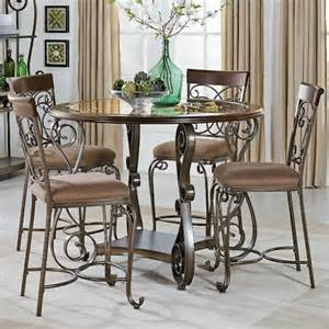Counter Height Table And Chairs by Standard Furniture Bombay Counter Height Table And