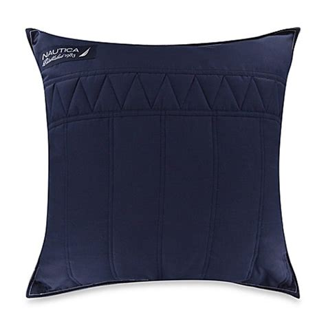 nautica bed pillows buy nautica 174 mainsail square throw pillow in navy from bed bath beyond