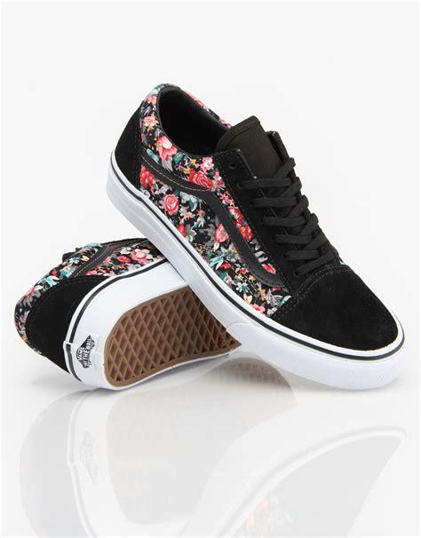 vans for shoes vans skool skate shoes multi floral black true