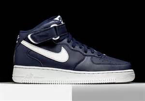 Nike air force 1 mid quot midnight navy quot sneakernews com