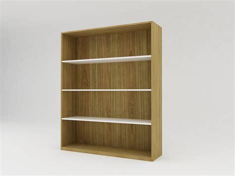 minimalist modern furniture rak buku kayu minimalis 4 rak level white teak rak