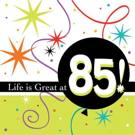 85th birthday napkins bright 85th birthday napkins
