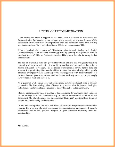 Letter Of Recommendation Quality write a recommendation letter for student you write my