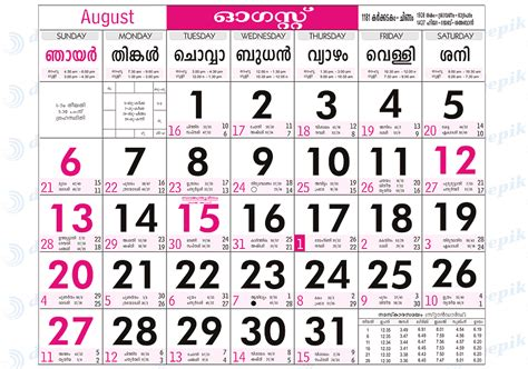 August 2006 Calendar Scribblings Of A Different Malayala Masam Chingam Onnu