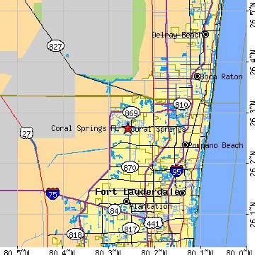 coral springs florida fl population data races