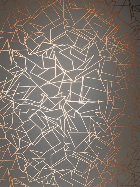 grey graphic pattern angles by erica wakerly copper rose lead grey