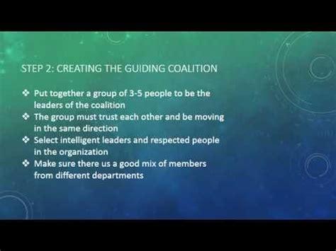 kotter change model youtube kotter s 8 step organizational change model fc youtube