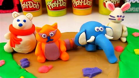 Zoo Doh play doh animals zoo elephant white raccoon