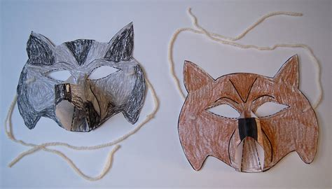 How To Make A Wolf Mask Out Of Paper - turtdiscvagert how to make a wolf mask