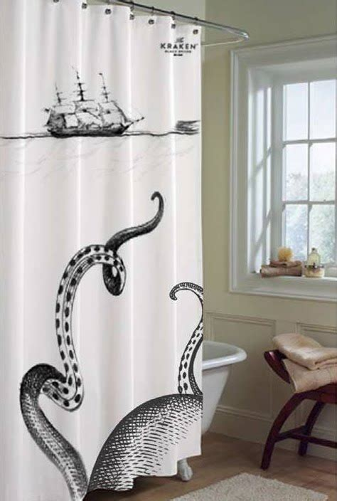 kraken shower curtain super punch kraken rum shower curtain and book