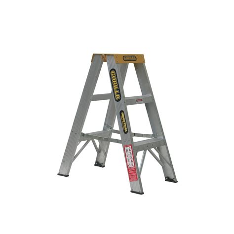 safety step stool bunnings gorilla 0 9m 150kg sided aluminium step ladder