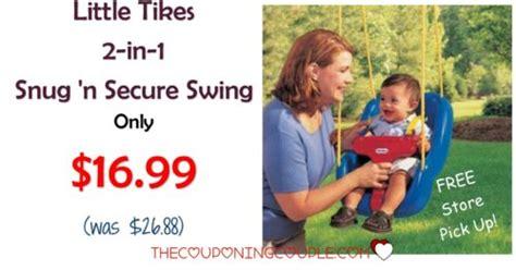 2 in 1 snug n secure swing little tikes 2 in 1 snug n secure swing only 16 99