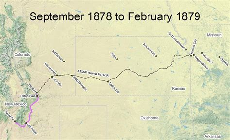 gis city of santa fe travel the trail map timeline 1878 1880 santa fe national historic trail u s national