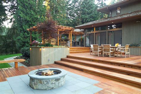 Small Pits For Decks Decks Plans With Firepits Pit Wood Deck Protection