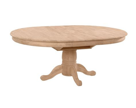 Unfinished Furniture Dining Table Whitewood 54 Quot Dining Table With Butterfly Leaf