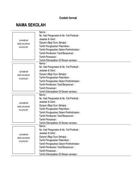 contoh biografi guru contoh format profil guru aks sarawak