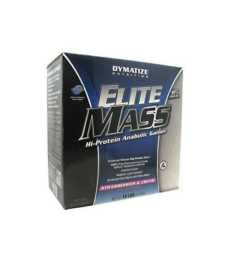 Elite Mass Gainer 10lbs Dymatize dymatize nutrition elite mass gainer fraises et