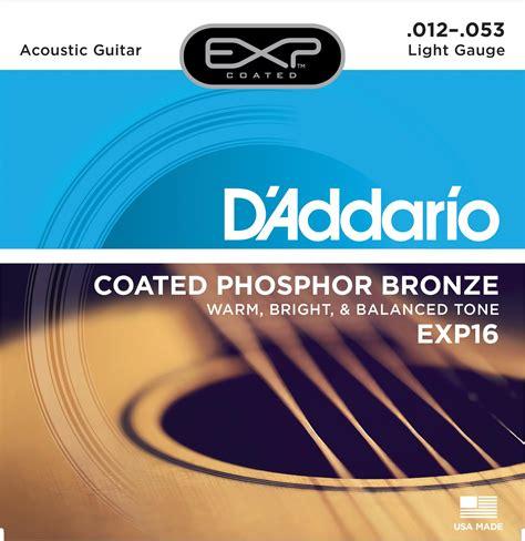 Amazon Com D Addario Exp16 With Ny Steel Phosphor Bronze Light Vs Medium Acoustic Guitar Strings