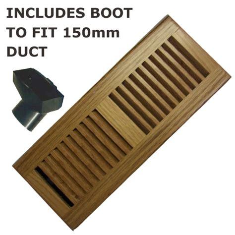 Floor Vent Wood 300mm x 100mm Polished Oak