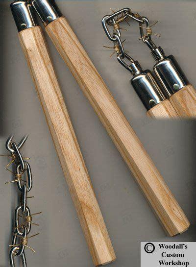 Handmade Nunchaku - barbed wire nunchaku designed by chris pellitteri