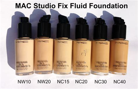 Mac Studio Fix Fluid Foundation revlon colorstay foundation shades compared to mac