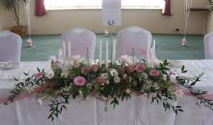 Top Table Decoration Ideas Silk Flower Arrangements For Weddings Venue Flowers Top Table Wedding Flower Decorations At