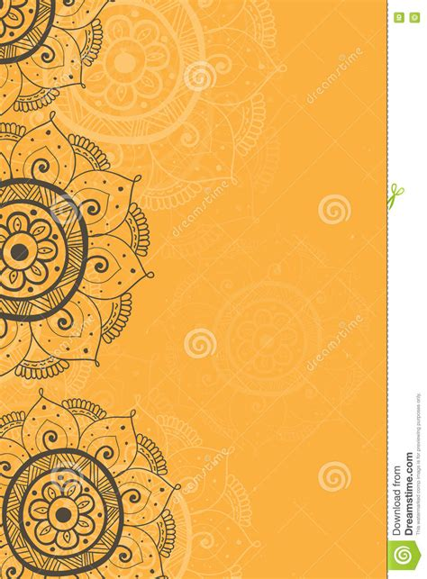 Wedding Background Design Yellow by Ethnic Invitation Card Yellow Background Stock