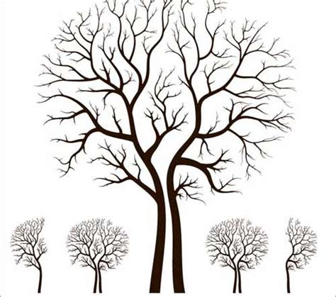 Outdoor Wall Mural Stencils tree vector 500 free editable illustrations to download