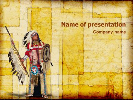 American Indian Powerpoint Template Backgrounds 01718 Poweredtemplate Com American Indian Powerpoint Template