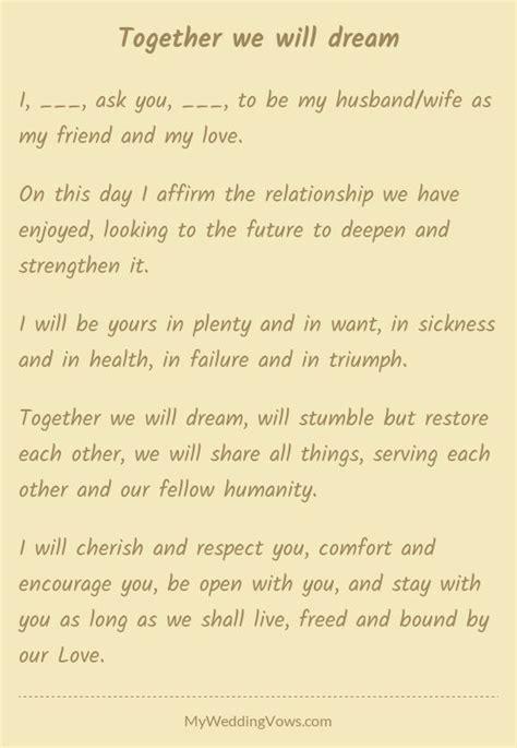 together we will in 2019 wedding vows wedding vows to husband best wedding vows