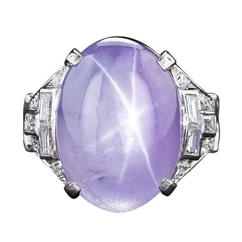 Purple Sapphire Starsrilanka Ring Silver sapphire ring in platinum with diamonds alain r truong