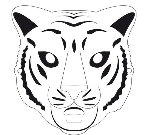 jungle animal mask templates tiger jungle animal pencil and in color