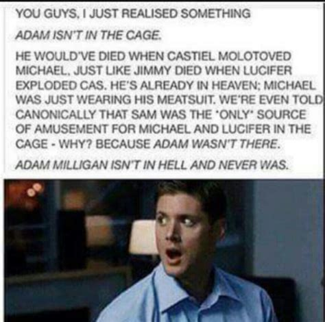 libro why did the heavens why did death tell dean to choose between adam and sam though that s the only problem with this