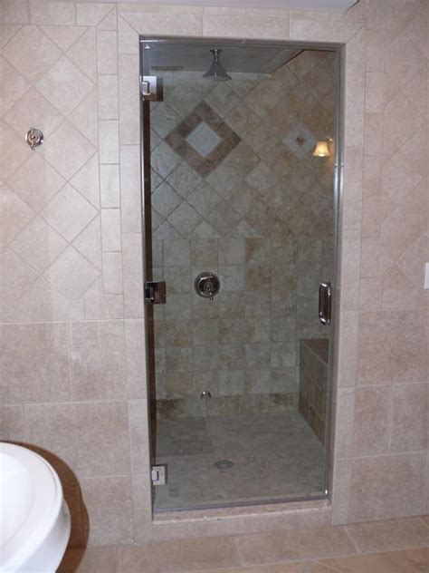 swing shower doors in swing shower door frameless swing shower doors from