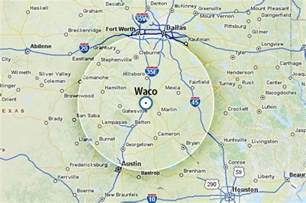 map of waco and surrounding area my