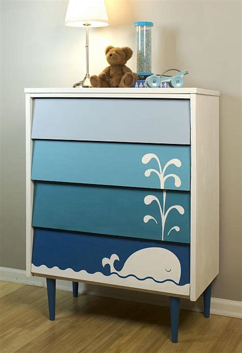 kid s blue ombre whale dresser project by decoart