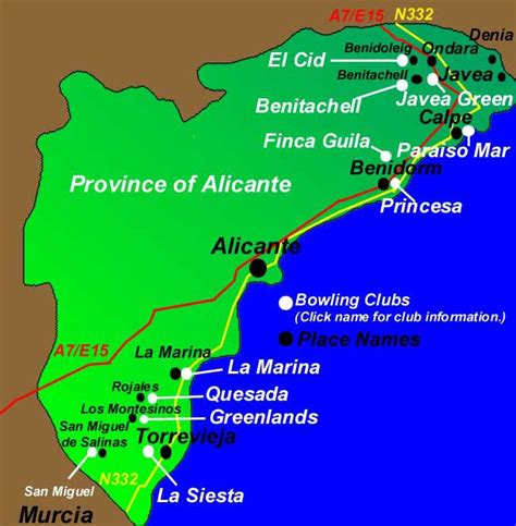 map of alicante area bowls map alicante to see where the cubs are situated
