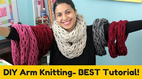 diy arm knitting infinity scarf diy arm knitting infinity scarf cowl best tutorial