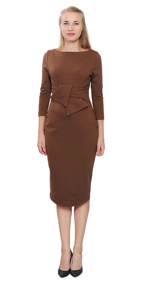 Office Dress 1 wiggle midi dress vintage retro 1950s evening work office dresses a3296 ebay