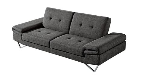 Tufted Sleeper by Grey Fabric Tufted Sofa Sleeper Contemporary Modern At