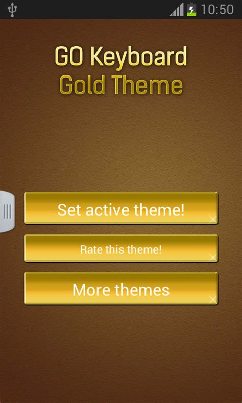 gold go themes go keyboard gold theme for android download