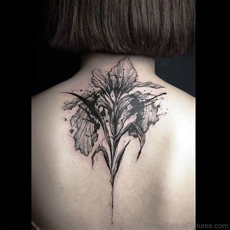 black iris tattoo 70 iris flower tattoos