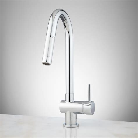 Single Hole Kitchen Sink Faucet | motes single hole pull down kitchen faucet kitchen