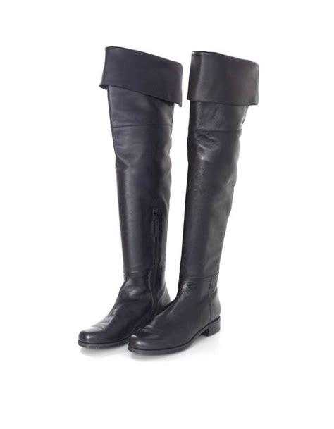 stuart weitzman black leather thigh high boots sz us7 5