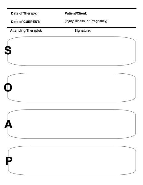 free soap notes template pin soap notes on