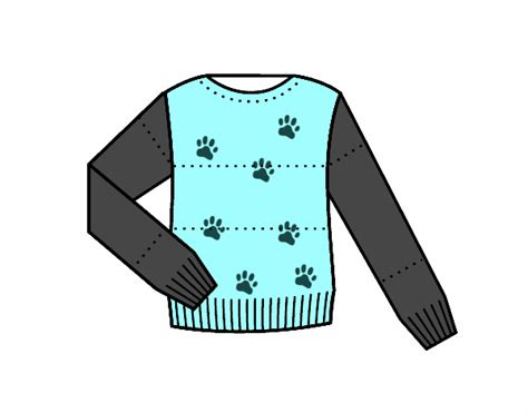 Sweater Chaos Logo Fashion Family colored page sweater painted by user not registered