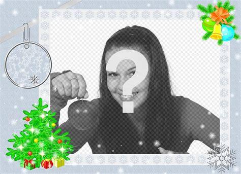 efectos para decorar fotos online marco para fotos con dise 241 o navide 241 o para decorar online